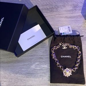 Gold necklace with diamonds Chanel